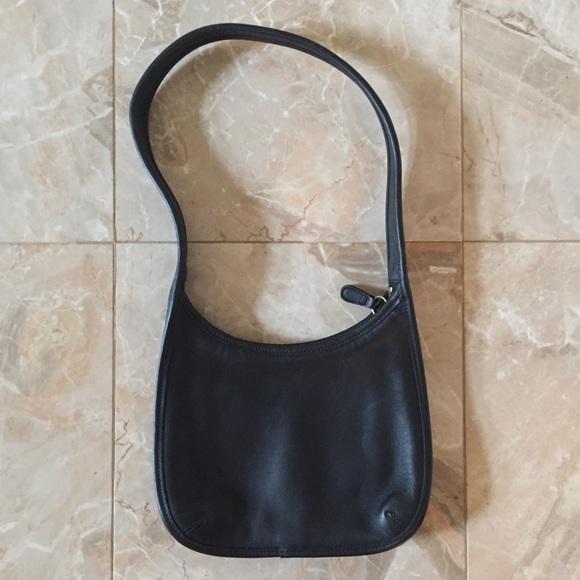 Coach Handbags - Vintage Coach Mini Ergo Black Leather Purse